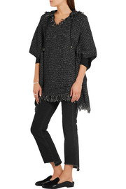 MICHAEL Michael Kors Fringed knitted hooded poncho