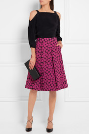 MICHAEL Michael Kors Pleated jacquard skirt