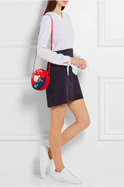 Olympia Le-Tan Teddy Bear Dizzie appliquéd cotton-canvas shoulder bag