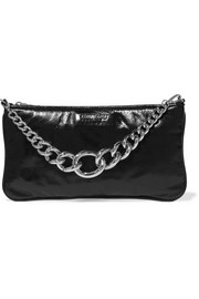 Glossed-leather clutch