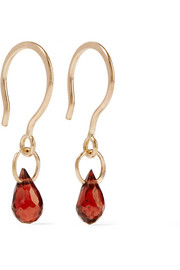 14-karat gold garnet earrings