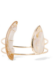Melissa Joy Manning 14-karat gold, druzy and opal cuff