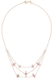 Melissa Joy Manning 14-karat gold tourmaline necklace