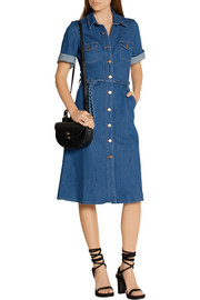 M.i.h Jeans Belted stretch-denim shirt dress