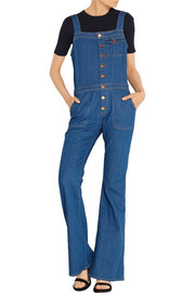 Dix stretch-denim overalls