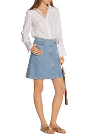 Decade denim mini skirt