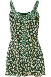 Printed silk-georgette playsuit