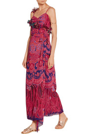Anna Sui Zandra printed crinkled silk-chiffon maxi dress