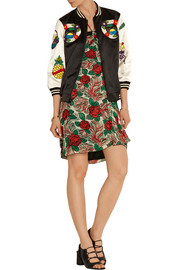Anna Sui Embellished cotton-blend bomber jacket