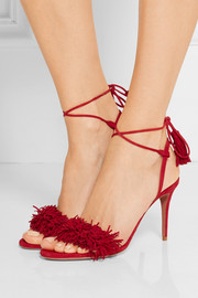Wild Thing fringed suede sandals