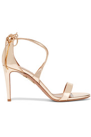 Linda mirrored-leather sandals