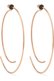 Diane Kordas 18-karat rose gold hoop earrings
