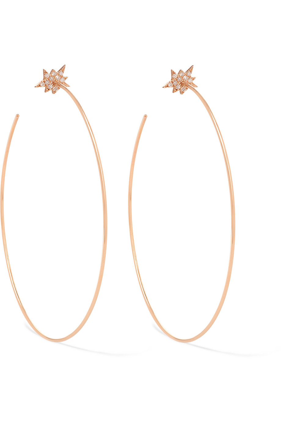 Diane Kordas Explosion 18-Karat Rose Gold Diamond Hoop Earrings, Women's