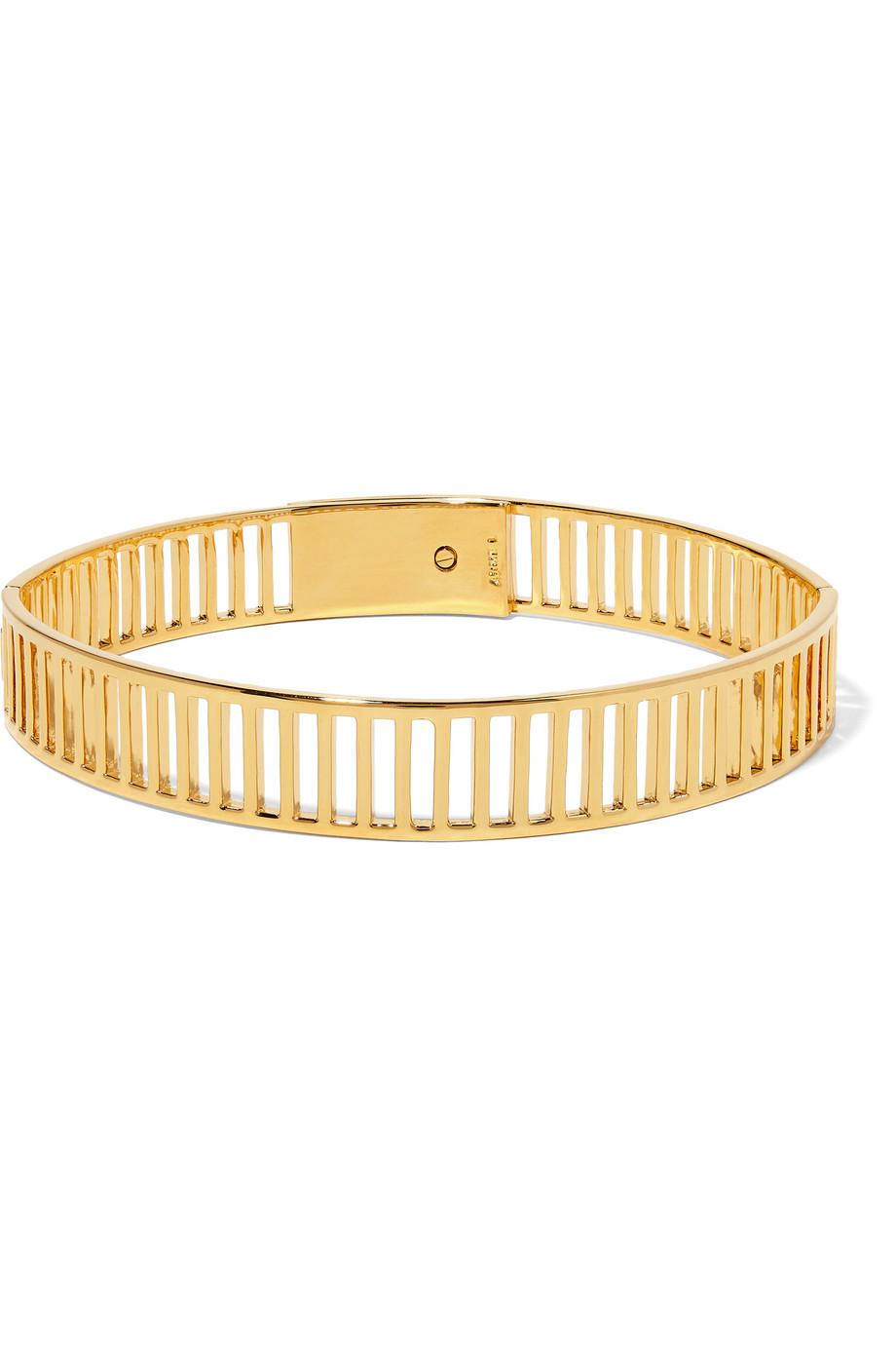 Arme De L'amour Simple Stripe Gold-Plated Choker, Women's