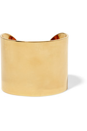 Simple gold-plated cuff