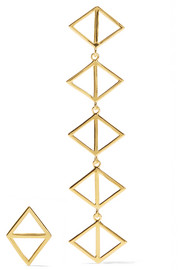 Triangle gold-plated earrings