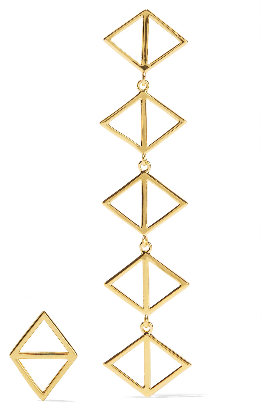 Arme De L'amour Triangle Gold-Plated Earrings, Women's