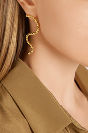 Arme De L'Amour Large Wave gold-plated earrings