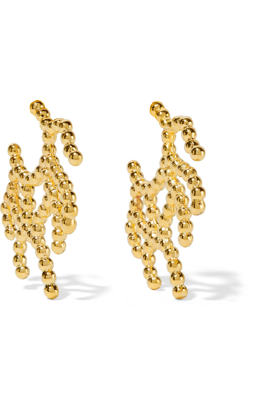Arme De L'amour Coral Gold-Plated Earrings, Women's