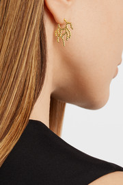 Arme De L'Amour Coral gold-plated earrings