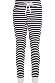 Como striped cotton-terry track pants