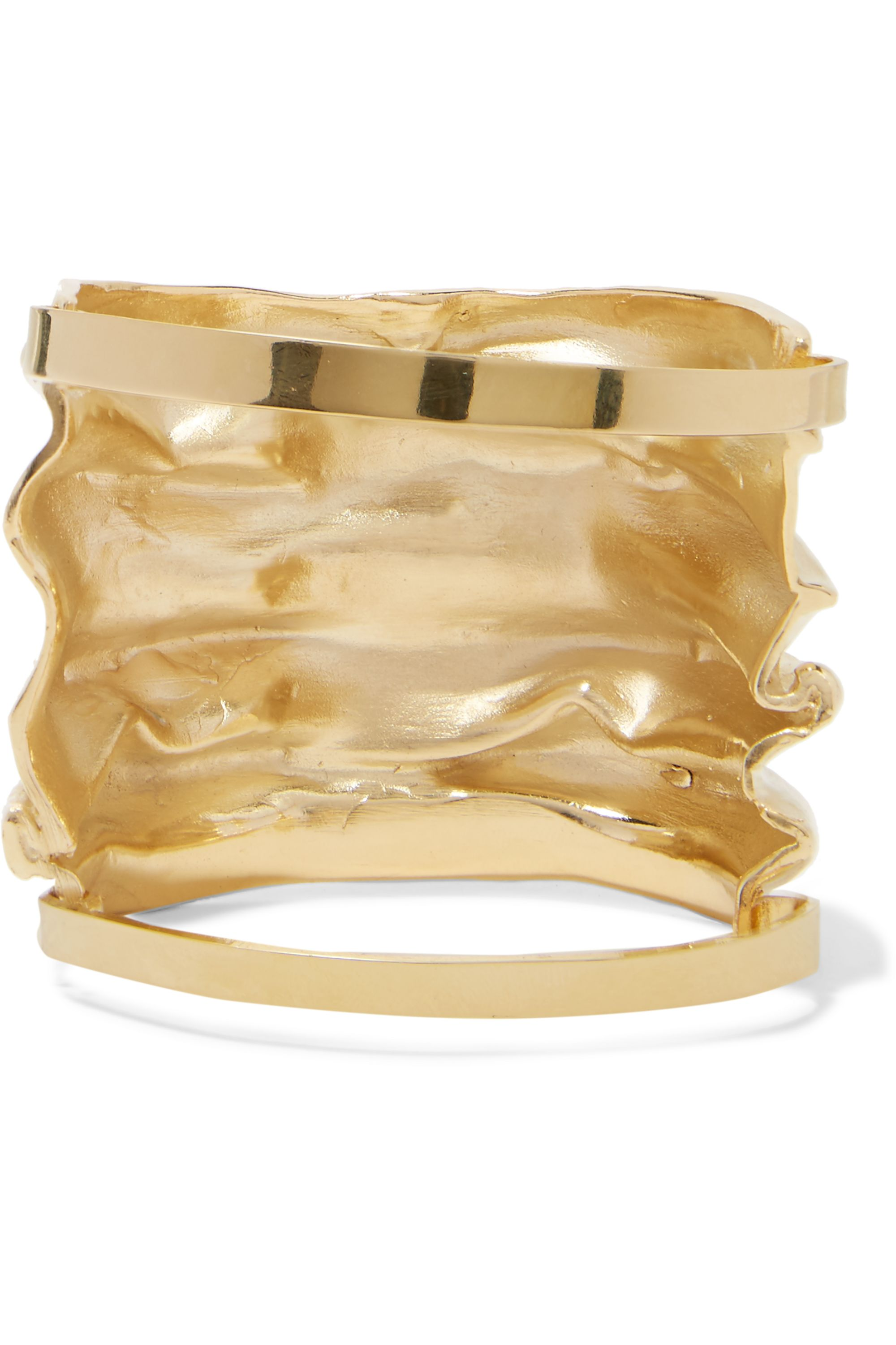 Annelise Michelson Draped gold-plated cuff