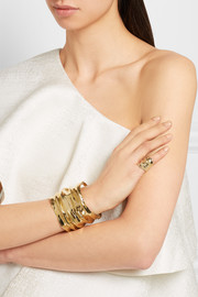 Draped gold-plated ring