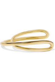 Initial gold-plated bracelet