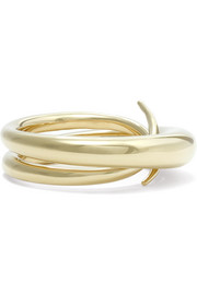 Unchained gold-plated ring