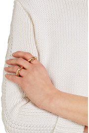 Charlotte Chesnais Unchained gold-plated ring