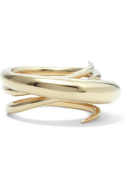 Hurly Burly gold-plated ring