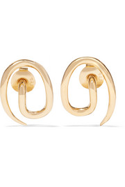 Whirl gold-plated earrings