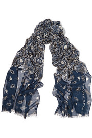 Marc Jacobs Printed modal and silk-blend scarf