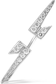 Bolt 18-karat white gold diamond earring