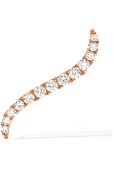 Anita Ko - Wave 18-karat Rose Gold Diamond Earring