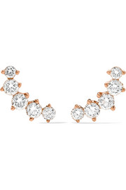 Arc 18-karat rose gold diamond earrings