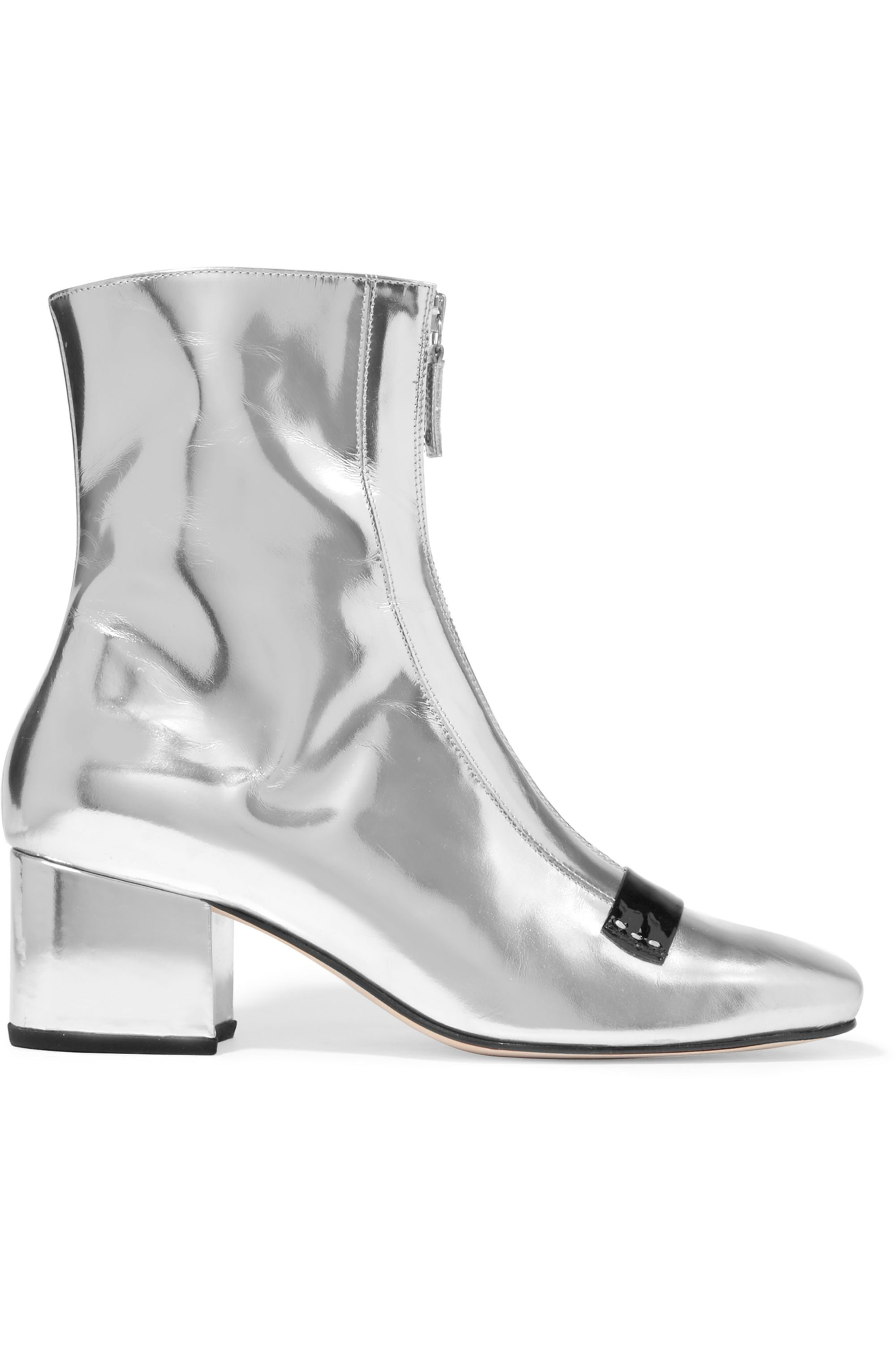 DORATEYMUR Double Delta mirrored-leather ankle boots
