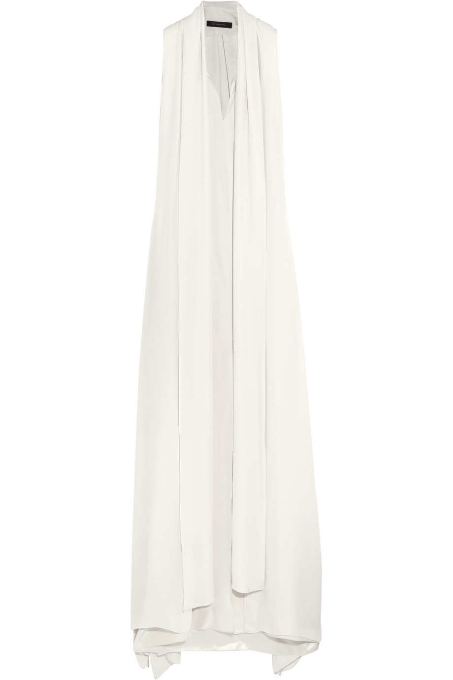 Santos Silk Crepe De Chine Gown, Off-White, Women's, Size: 2