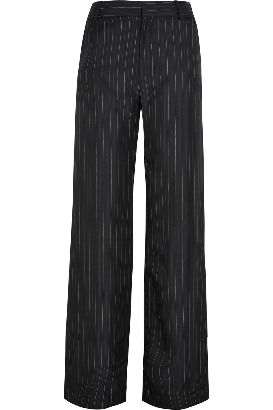 Bayamo Silk-Twill Wide-Leg Pants, Black, Women's, Size: 8