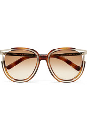 Chloé Jayme cat-eye gold-tone and acetate sunglasses