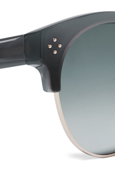 c7a20d5424a Chloé. Boxwood cat-eye acetate and gold-tone sunglasses.  155. Zoom In