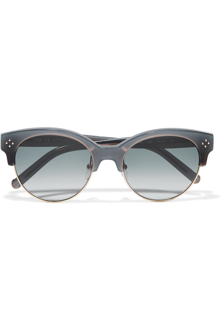Chloé Boxwood Cat-Eye Acetate and Metal Sunglasses, Gray, Women's