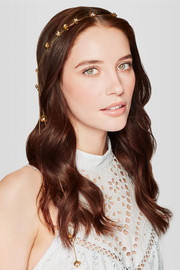 Stevie gold-tone crystal headband