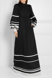 Vika Gazinskaya Striped cotton-voile maxi dress
