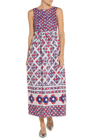 Vika Gazinskaya Printed cotton-matelassé midi dress