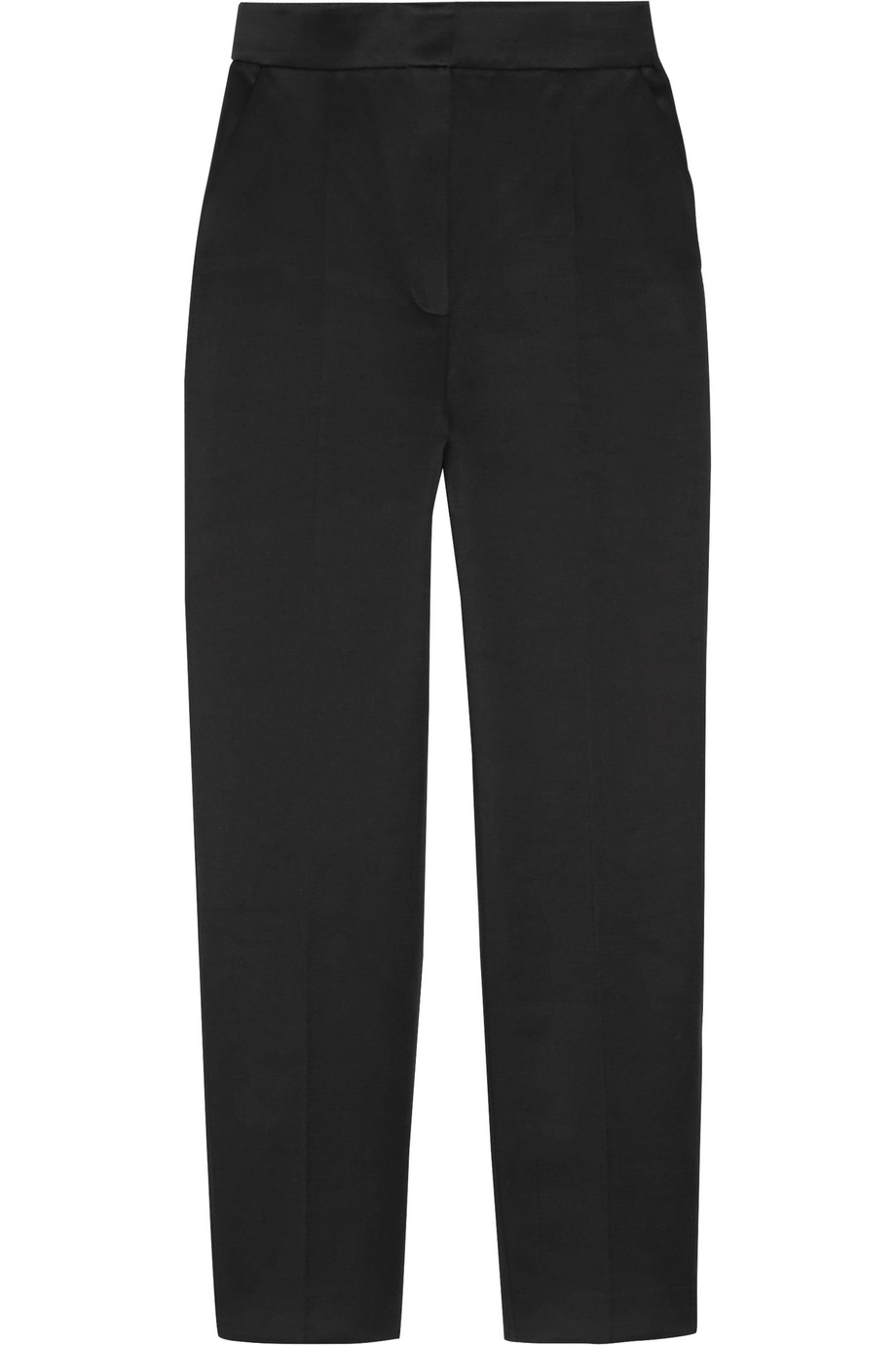 Vika Gazinskaya Cropped Cotton Tapered Pants, Black, Women's, Size: 44