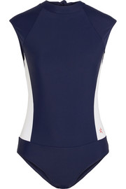 Cutout stretch-jersey rashsuit