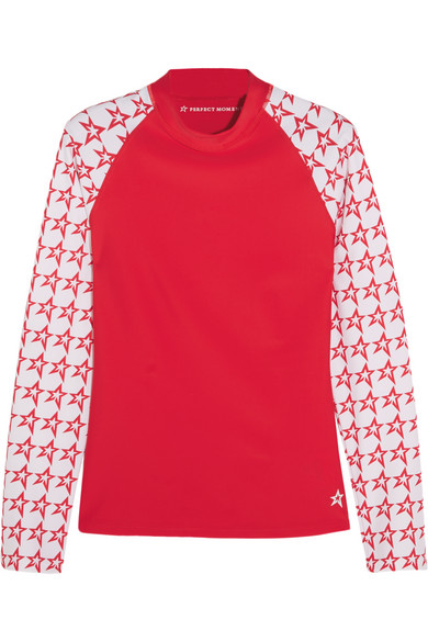 Perfect Moment - Printed Stretch Rash Guard - Red