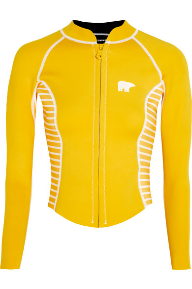 Perfect Moment - Printed Neoprene Rash Guard - Yellow