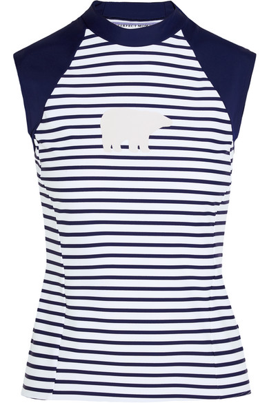 Perfect Moment - Striped Rash Guard - Navy